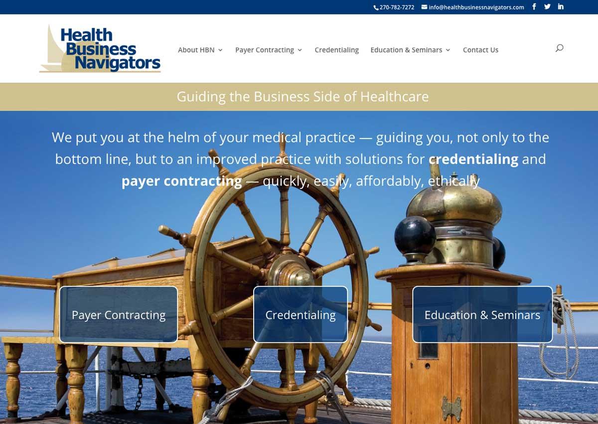 Health Business Navigators website