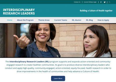 Interdisciplinary Research Leaders Website