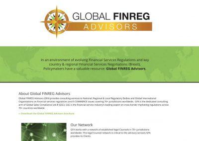 Global FINREG Advisors Website