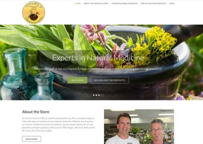 Nature's Vitamins and Herbs Website
