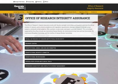 Georgia Tech ORIA Website