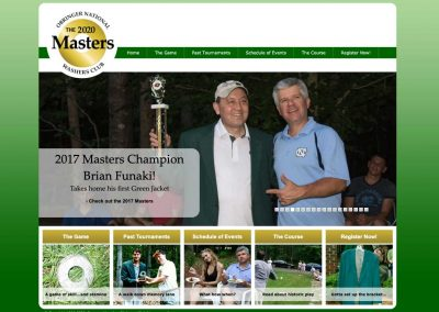 The Masters Washers Tournament Website
